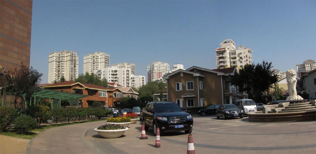 Main gate of Riverside Garden. Shenyang, China