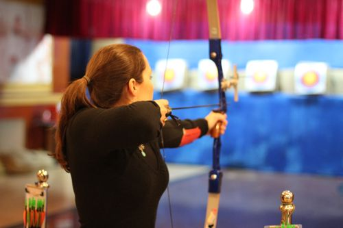 Firing a bow in Shenyang